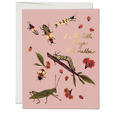 Little Bugs Greeting Card-Greeting Card-Ten Octaves