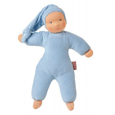 Organic Schatzi Boy Doll Light Blue-Plush-Ten Octaves