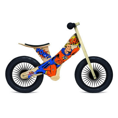 Retro Balance Bike (Superhero) Kinderfeets-Ride-On-Ten Octaves