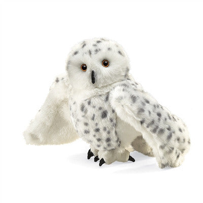 Snowy Owl-Head Turning Hand Puppet-Puppet-Ten Octaves