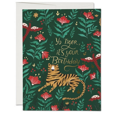 Tiger Greeting Card-Greeting Card-Ten Octaves