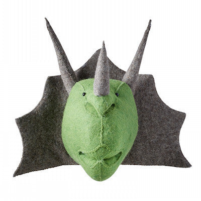 Triceratops Dino Head Handmade Wall Decor-Wall Decor-Ten Octaves