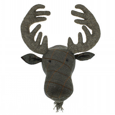 Tweed Moose Handmade Wall Decor-Wall Decor-Ten Octaves