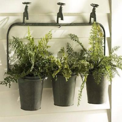 Water Faucet Hanging Planter