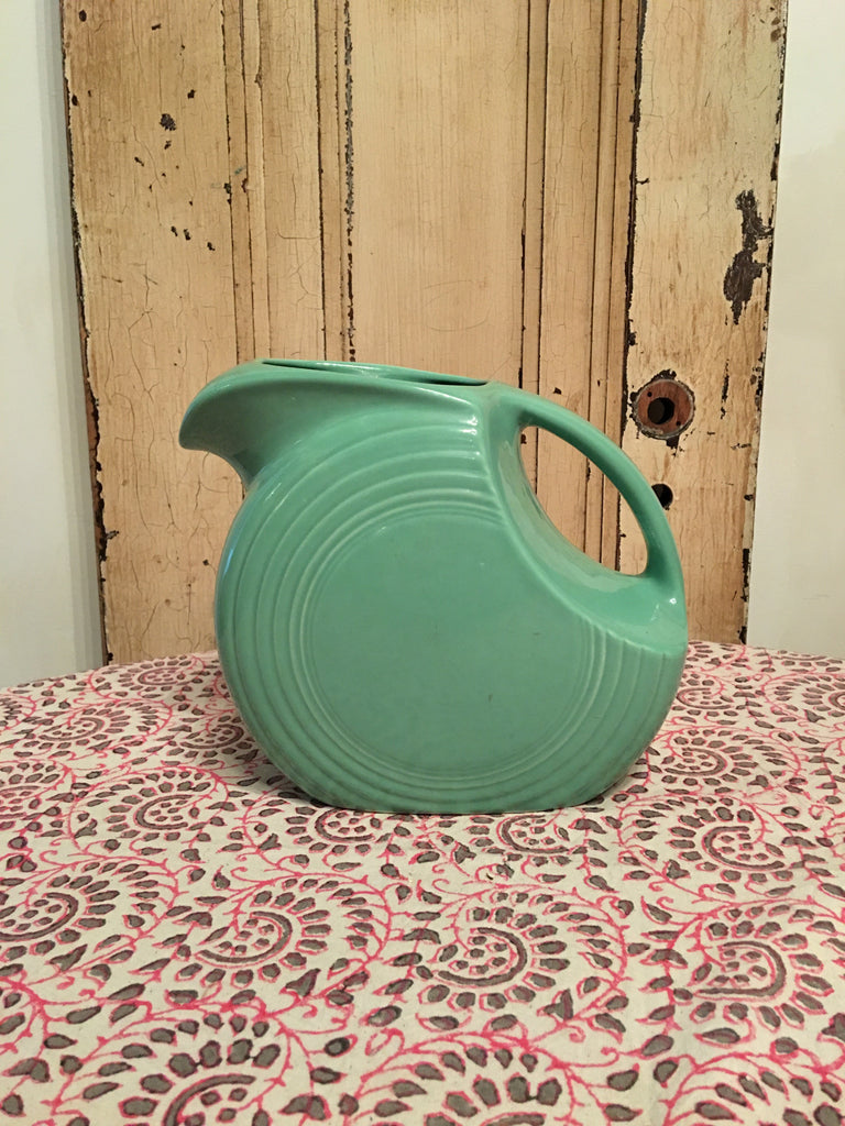 Vintage Fiestaware Green Pitcher