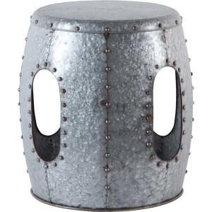 Galvanized Metal Stool