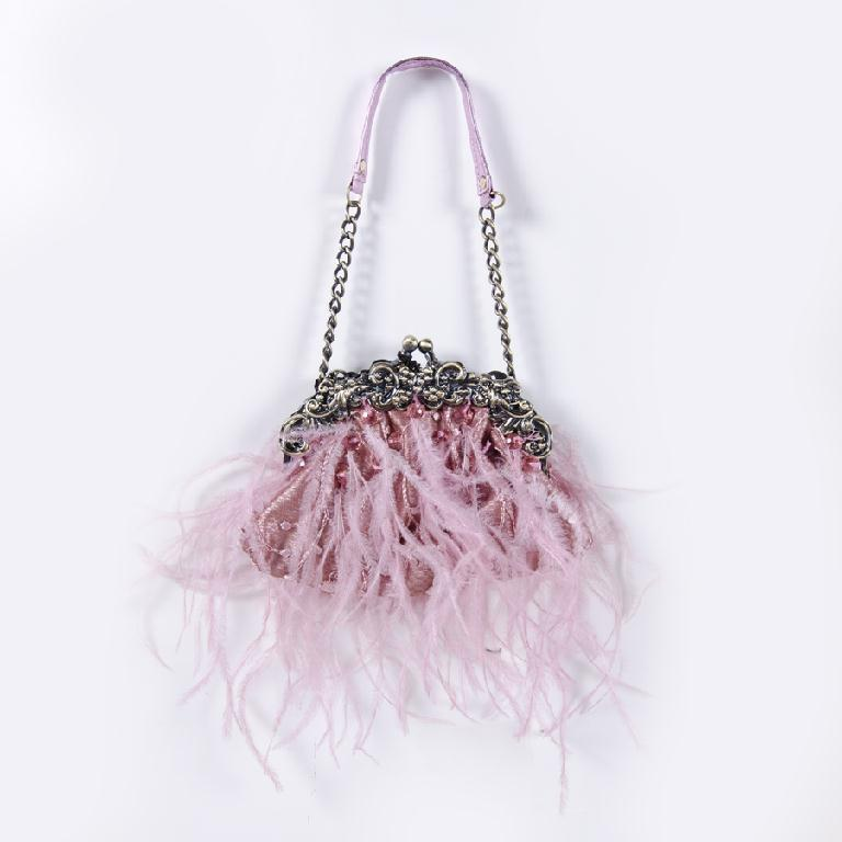 Pink Feather Bag
