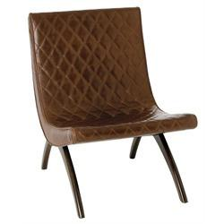 Danforth Mid Century Modern Quilted Leather Chair