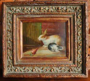 Rabbit Painting in Oil