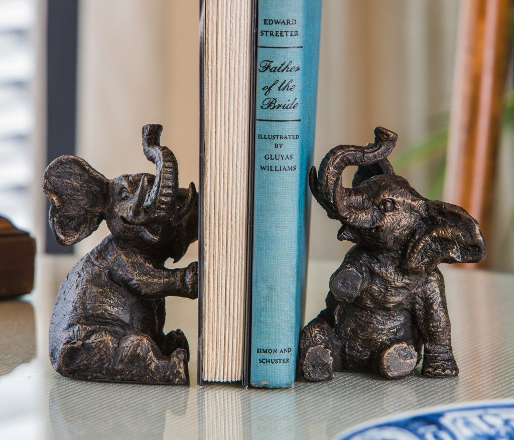 Roll Tide Elephant Bookends