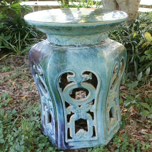 Turquoise Garden Tea Table