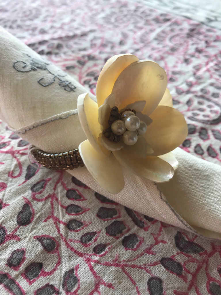 Ivory Flower Napkin Ring