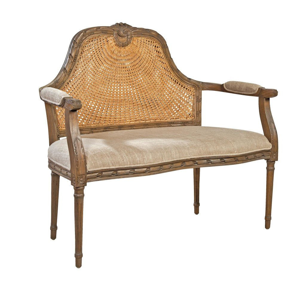 French Reproduction Marquis Cane Settee