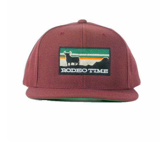Maroon Rodeo Time  Sunset Snapback
