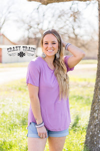 LAVENDER ** BUTTER BASIC TEE