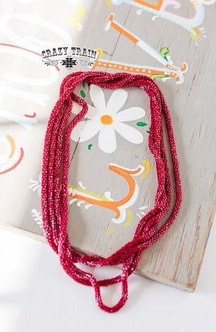 Loopty Loo Necklace *Wine*