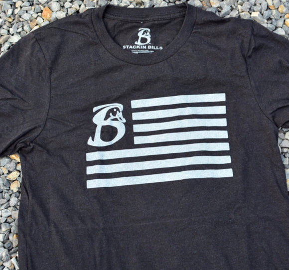 Us Flag - Heather Black