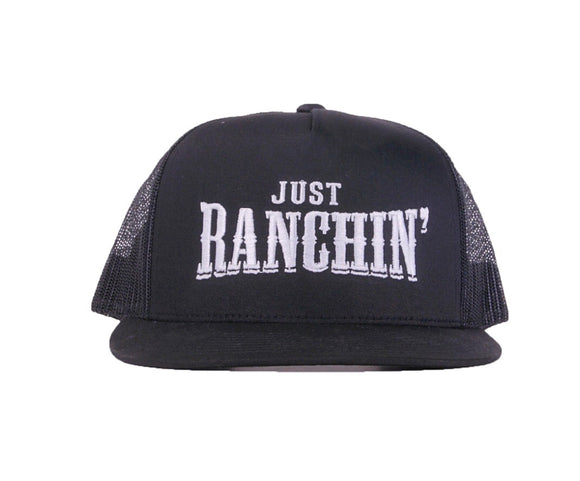 Just Ranchin in Black Mesh