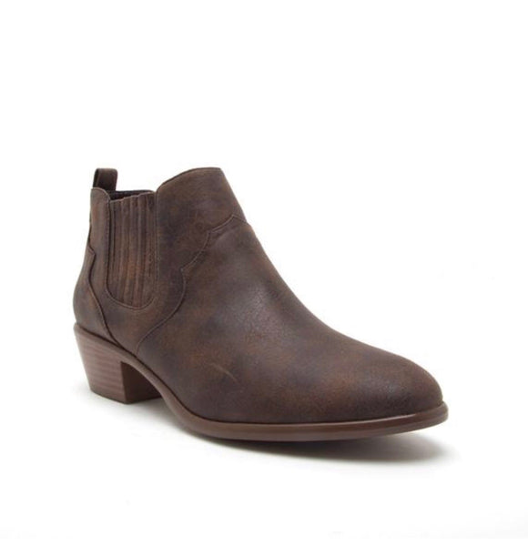 Weekend *Brown Distress* Booties