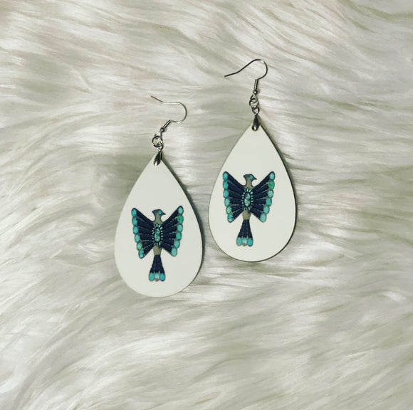 Turquoise Thunderbird *Earrings*