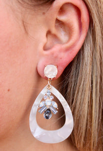 Ivory Teardrop Earrings