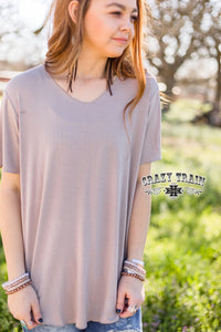 TAUPE ** BUTTER BASIC TEE