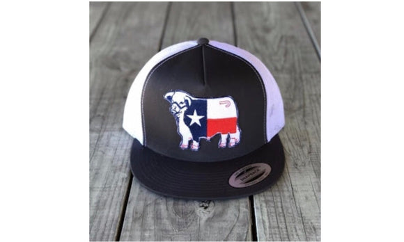 Grey and White Texas Flag Hereford