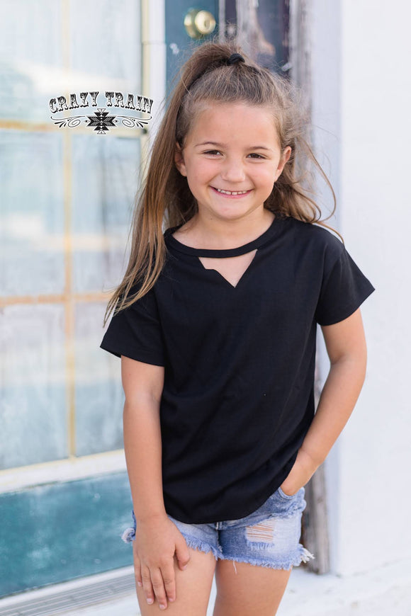 Kids- Black Textline Top
