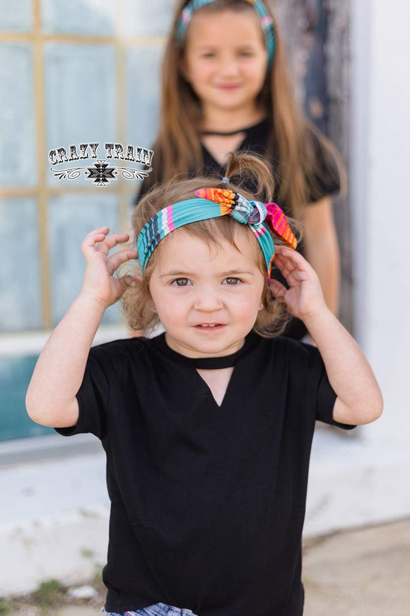 Kids- River Rat Headband *Serape*