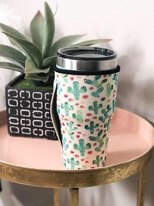 Cactus Tumbler Sleeve with Handle