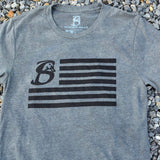 Us Flag-Heather Gray