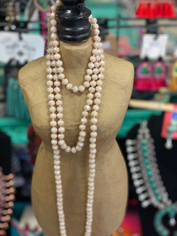 Cream Beaded Necklaces