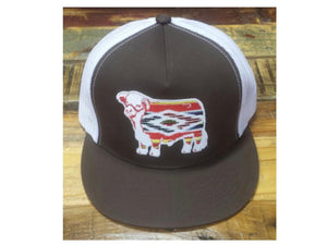 Brown and White Serape Hereford