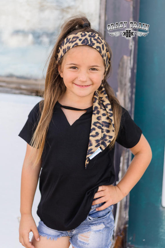Kids- Lake Tahoe Headscarf *Leopard*
