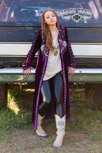 THE MCENTIRE DUSTER ** PURPLE LONG JACKET **