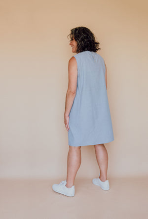 Rushcutter dress Kit - Cotton chambray
