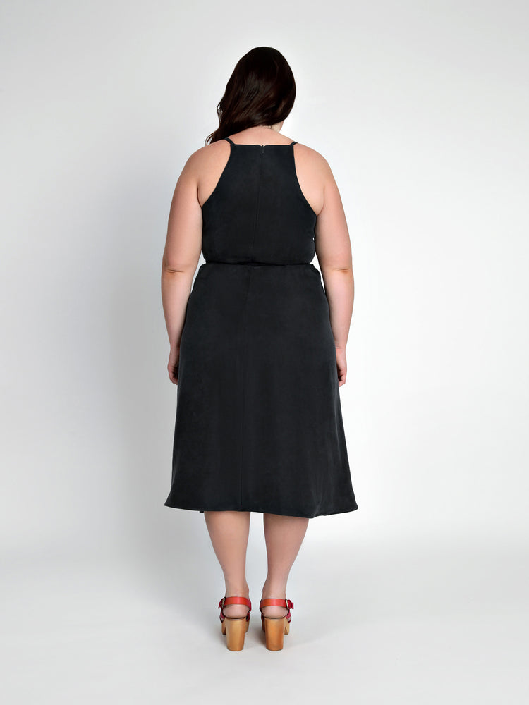 Acton dress Kit - Black silk linen