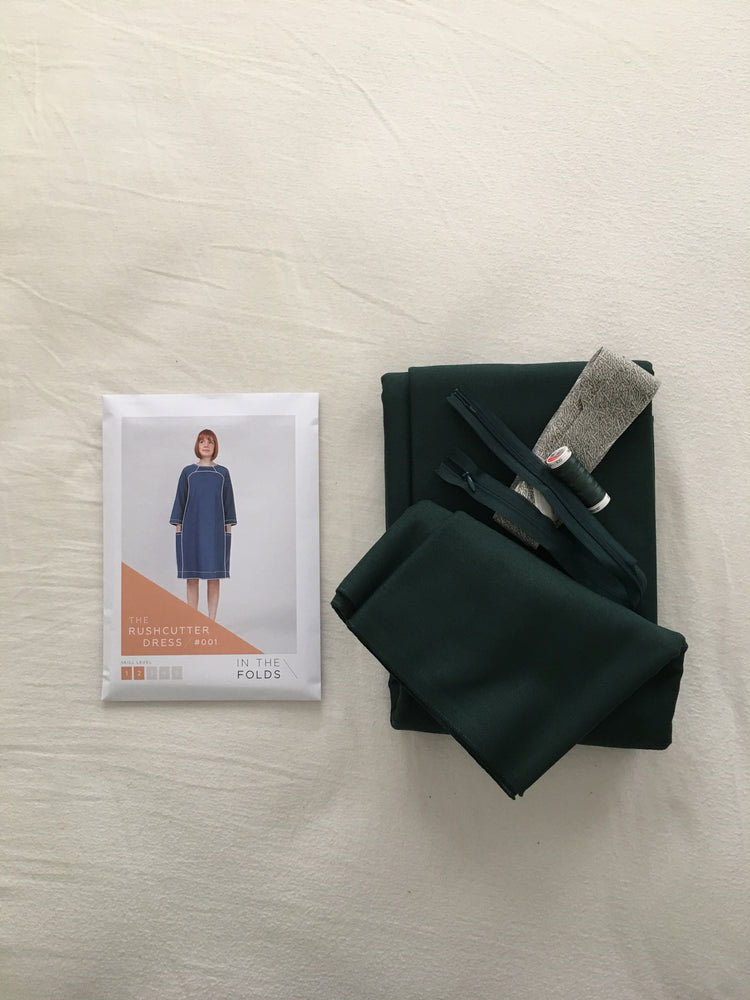 Rushcutter dress Kit - Green cotton drill