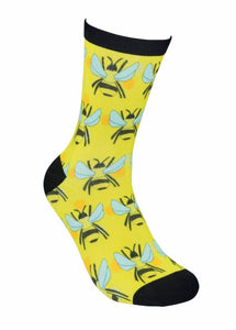 funky socks bees socks honey bee socks beekeeper socks Bamboo Socks - Stock Socks Official