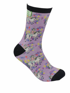 funky socks ballerina unicorn confetti Bamboo Socks - Stock Socks Official