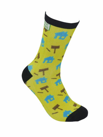 funky socks real estate houses gavels Bamboo Socks - Stock Socks Official