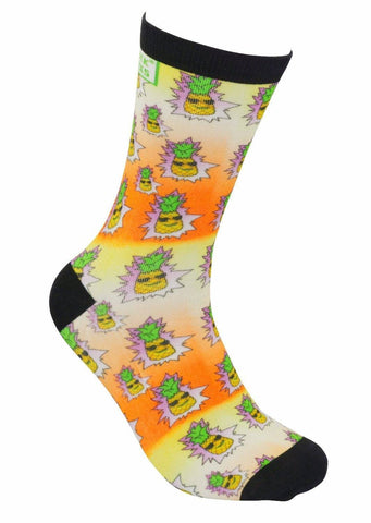 funky socks pineapple express Bamboo Socks - Stock Socks Official