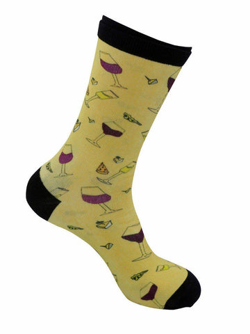 funky socks wine and cheese Bamboo Socks - Stock Socks Official