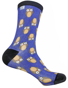 funky socks wise owl Bamboo Socks - Stock Socks Official