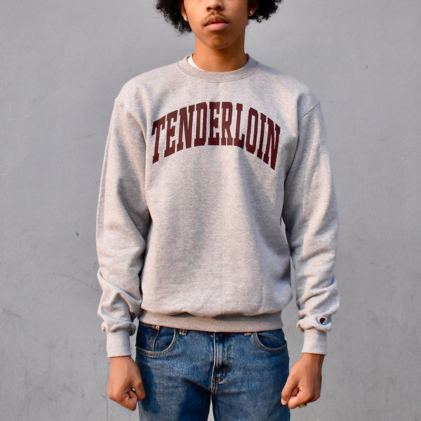 TENDERLOIN Champion arch crewneck sweatshirt -- grey