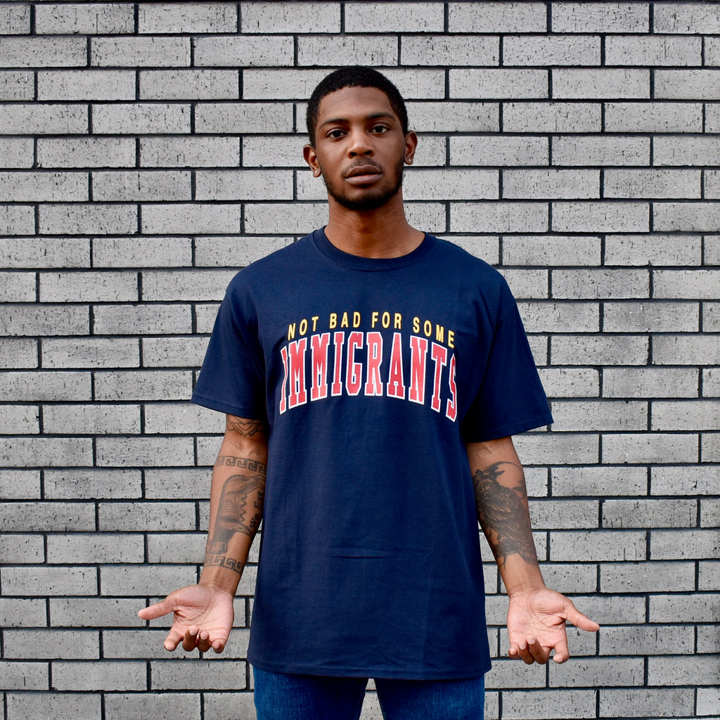 Immigrants Champion T-Shirt -- navy