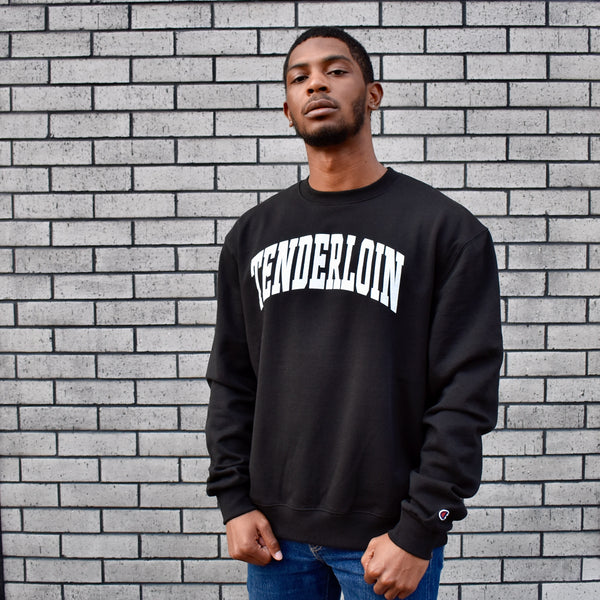 TENDERLOIN Champion arch crewneck sweatshirt -- black