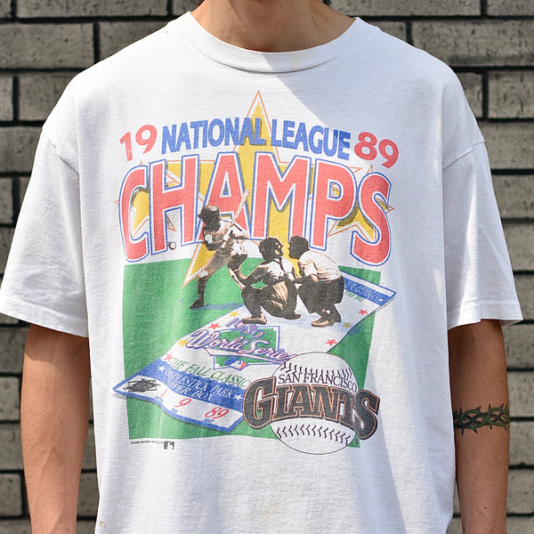 Vintage: SF Giants 1989 NL Champs T-Shirt -- white