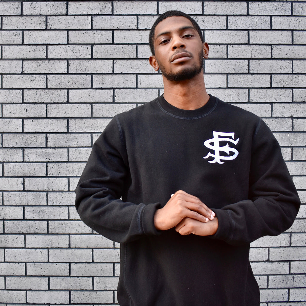 SF Interlock Crewneck Sweatshirt -- black