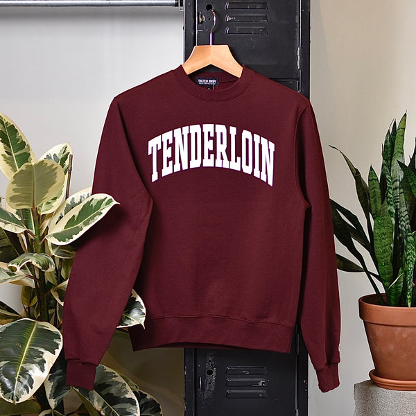 TENDERLOIN Champion arch crewneck sweatshirt -- burgundy